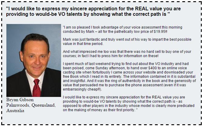 Bryan Gibson Voice Consultation Testimonial